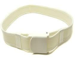 cinturone il tela bianco