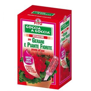 Fito fiale integratore goccia a goccia gerani e piante fiorite da ml.32