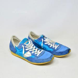Scarpe Philippe Model N 44 Azzurre E Blu