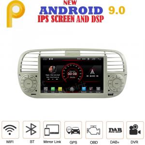 ANDROID 9.0 autoradio navigatore per Fiat 500 Fiat Abarth 500 2007-2015 Beige GPS USB WI-FI Bluetooth Mirrorlink