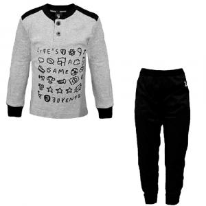 JUVENTUS pigiama grigio e nero bambino - 3/8 anni