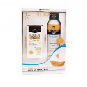 Heliocare 360º Pediatrics Mineral Piel Sensitive And Atopic Skin Spf50 50ml + Transparent Spray Spf50+ 200ml