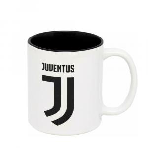 Tazza cilindrica bianca con interno nero della JUVENTUS in ceramica