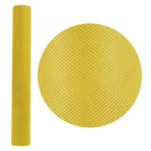 ROTOLO in tulle GIALLO (50 cm H x 20 Mt)