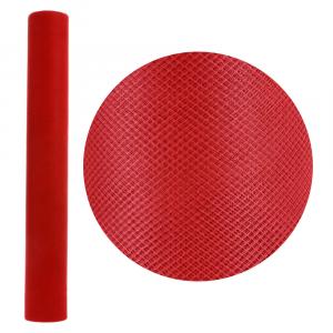 ROTOLO in tulle ROSSO (50 cm H x 20 Mt)