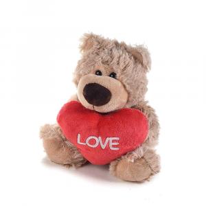 Peluche orsetto con cuore rosso e scritta love