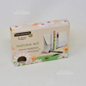 Natural Kit Mascara Volumizzante+matita Occhi + Pochette Naturaverde