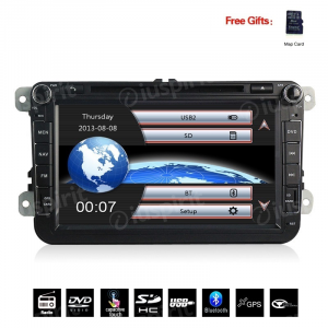 Autoradio 2 DIN navigatore per Passat Golf 6 Golf 5 Tiguan Jetta Polo Touran Caddy GPS DVD USB SD Bluetooth
