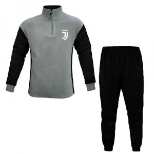 JUVENTUS pigiama grigio e nero in pile adulto - Taglie S/XL