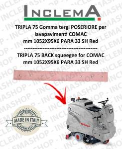 TRIPLA 75 BS II SERIE Gomma tergi POSTERIORE per lavapavimenti COMAC