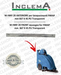 MMx 43 Gomma tergi ANTERIORE per lavapavimenti FIMAP (till s/n 211012836)