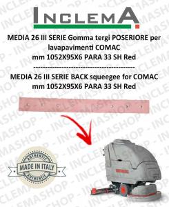 TRIPLA 65 Squeegee Rubber (squeegee da 1015mm) POSTERIORE for Scrubber Dryer COMAC