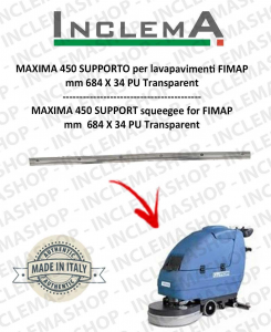 MAXIMA 452 Support Squeegee rubber for Scrubber Dryer FIMAP