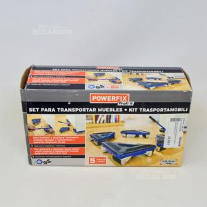 Kit Ruote Per Trasporto Mobili + Crik Powerfix