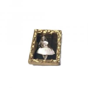 QUADRO con bimba in miniatura per la casa delle bambole in legno