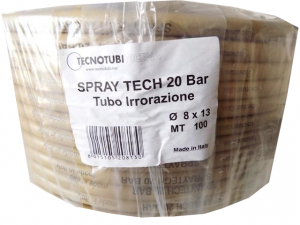Tubo irrorazione Spray Tech mt.100 20 BAR diam.10x15 e 8x13