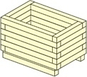 FIORIERA LEGNO CM 80X40 H 40