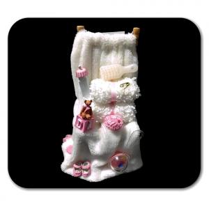 Sedia con asciugamani in miniatura casa delle bambole