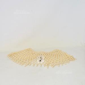 Collana Girocollo Perline Bianche