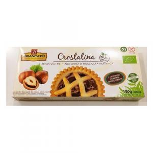 Crostatina alla crema di nocciola, senza glutine, biologica e Vegan