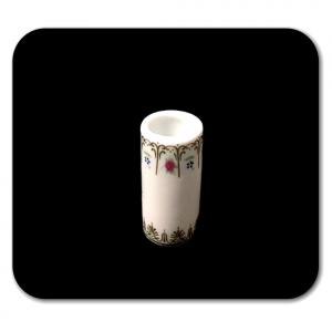 VASO bianco in miniatura per la casa delle bambole in ceramica