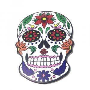 Sottopentola teschio messicano in sughero e ceramica