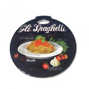 Sottopentola Gli spaghetti in ceramica con base in sughero