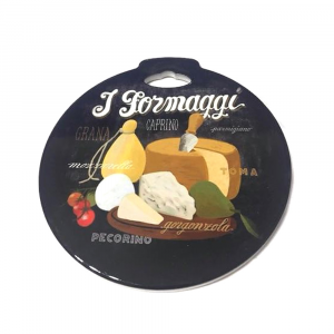Sottopentola I formaggi in ceramica con base in sughero