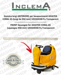 CORAL 65 gomma tergi ANTERIORE per lavapavimenti ADIATEK (tergi da 950 mm)