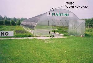 Tubo controporta completa di 1 Cappellotto e 1 Vite