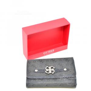 Portafoglio Guess Nero Usato Con Scatola Originale