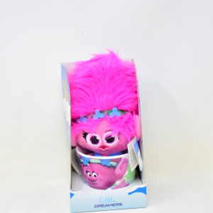 Peluches+tazza Little Dreamers Pupazzo Fuxia