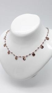 Collana Donna con cuori e agate colorate in argento ramato, vendita online | GIOIELLERIA BRUNI Imperia