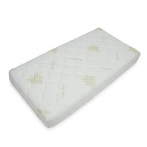 Babysanity Materassio per lettino SFODERABILE E TRAPUNTATO (60x125h14) in tessuto Aloe certificato