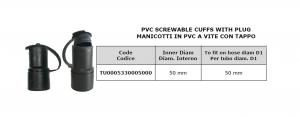 Manicotto in PVC a vite con tappo Ø 50 per lavapavimenti - Cod: TU0005330005000