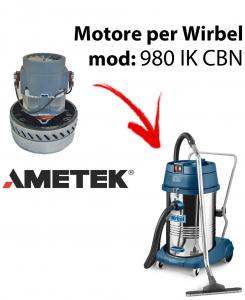 980 IK CBN MOTORE AMETEK aspirazione for Wet & Dry Vacuum Cleaner WIRBEL