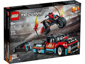 LEGO THECNIC TRUCK E MOTO DELLO STUNT SHOW 42106