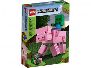 LEGO MINECRAFT MAXI-FIGURE MAIALE E BABY ZOMBI 21157