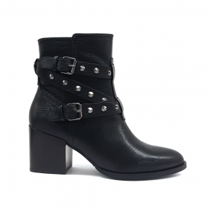 Stivaletto nero con borchiette Guess