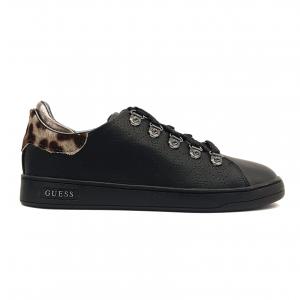 Sneaker nera con retro animalier Guess
