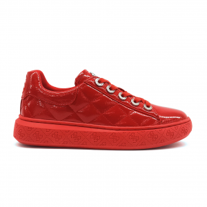 Sneaker rossa in vernice Guess