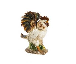 Gallo in ceramica variopinto