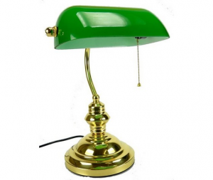 Lampada ministeriale con paralume verde