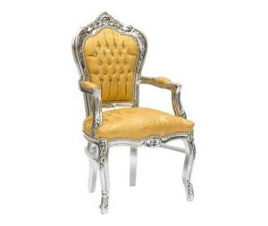 Poltrona barocco argento e oro