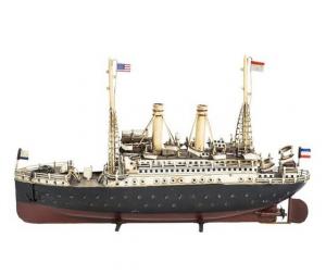 Modellino nave bianca rossa e blu