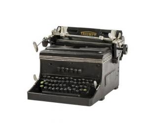 Modellino di macchina da scrivere