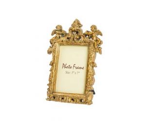 Portafoto resina oro barocco angeli e foglie
