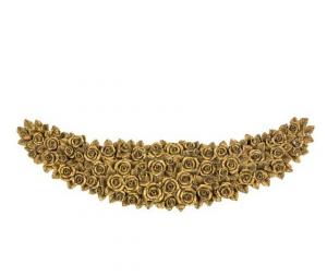 Sopraporta fregio frontone cornice barocco rose grande oro