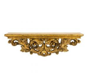 Mensola resina oro barocco gold foglie