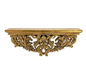 Mensola resina oro foglie gold barocco